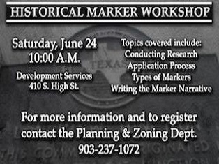 Historical Marker Workshop