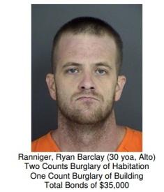 Crime Suspect - Ryan Barclay Ranniger