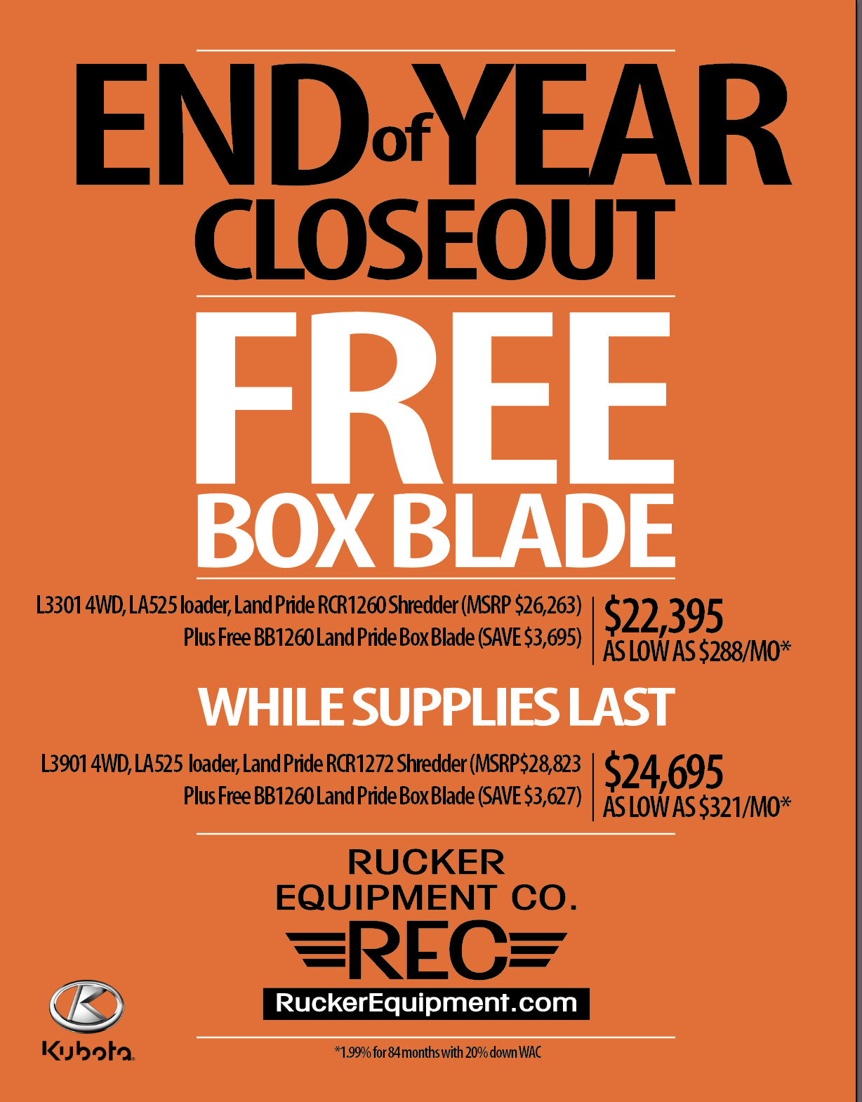 Rucker LSERIES End Of Year Closeout 2019