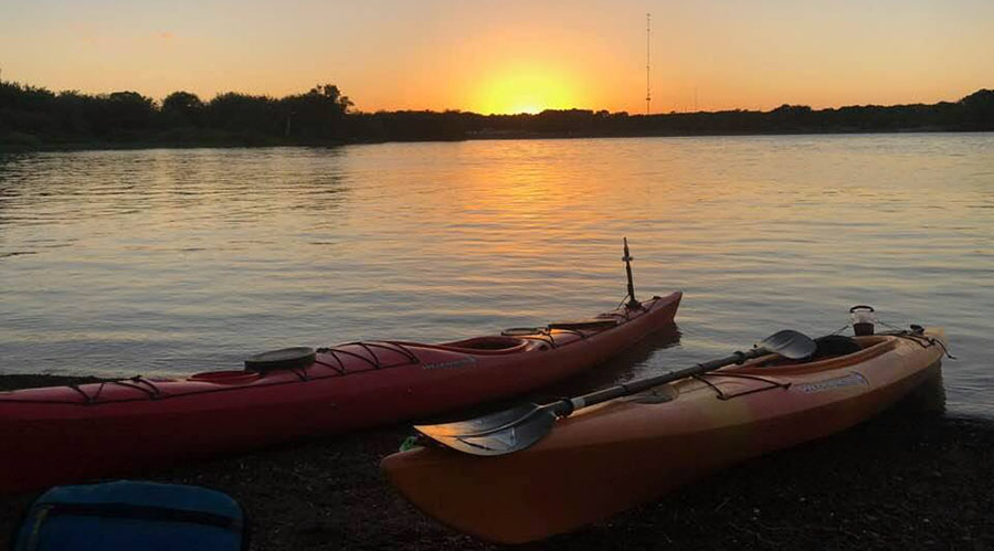 Kayaks Sunset Diane Small