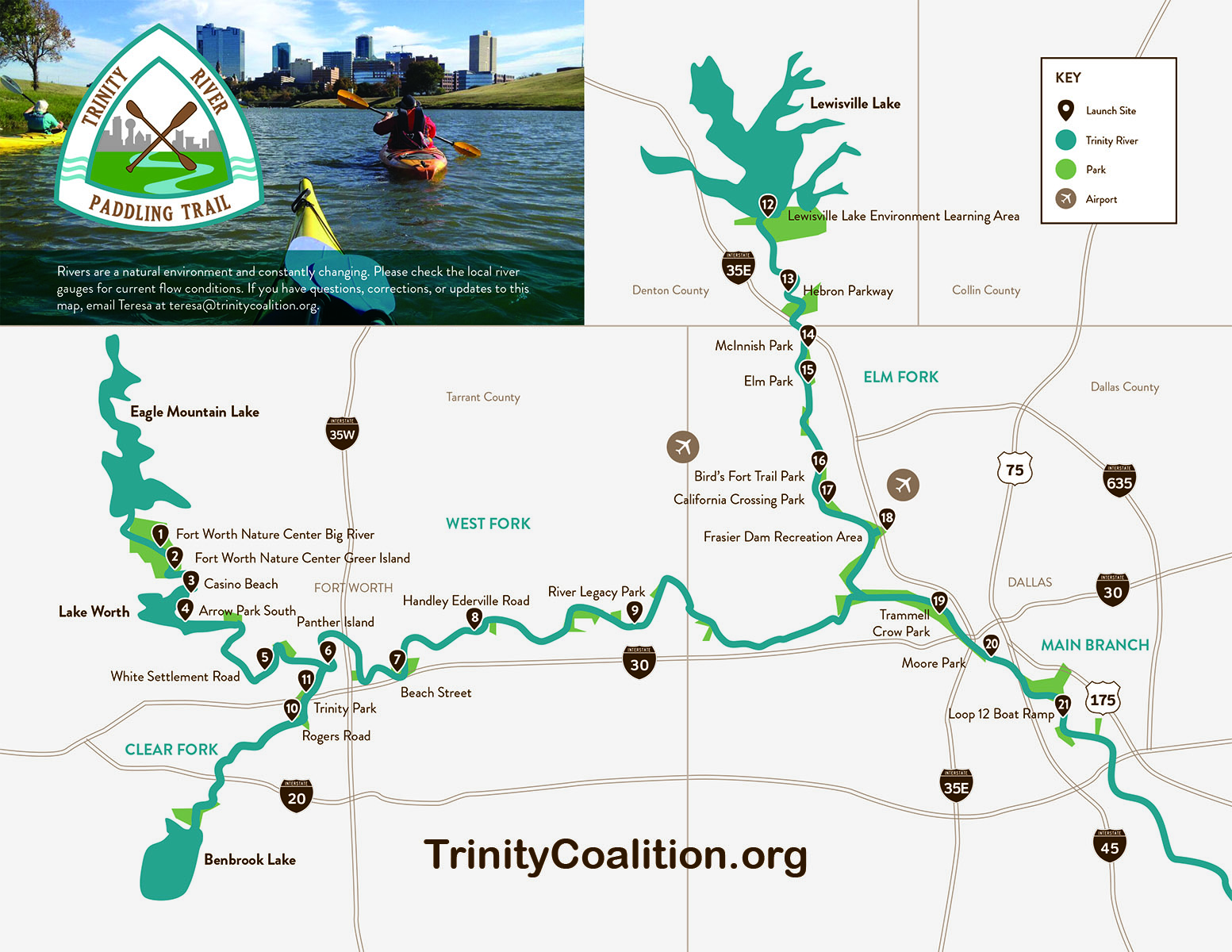 Discovery Event 2 hosted by REI: The Trinity River Paddle Trail