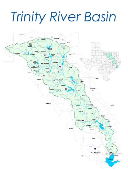 Trinity River Basin Map