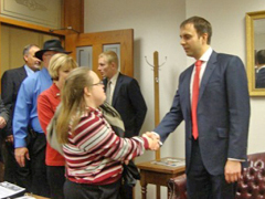 Page - Abby & Representative Lance Goodin