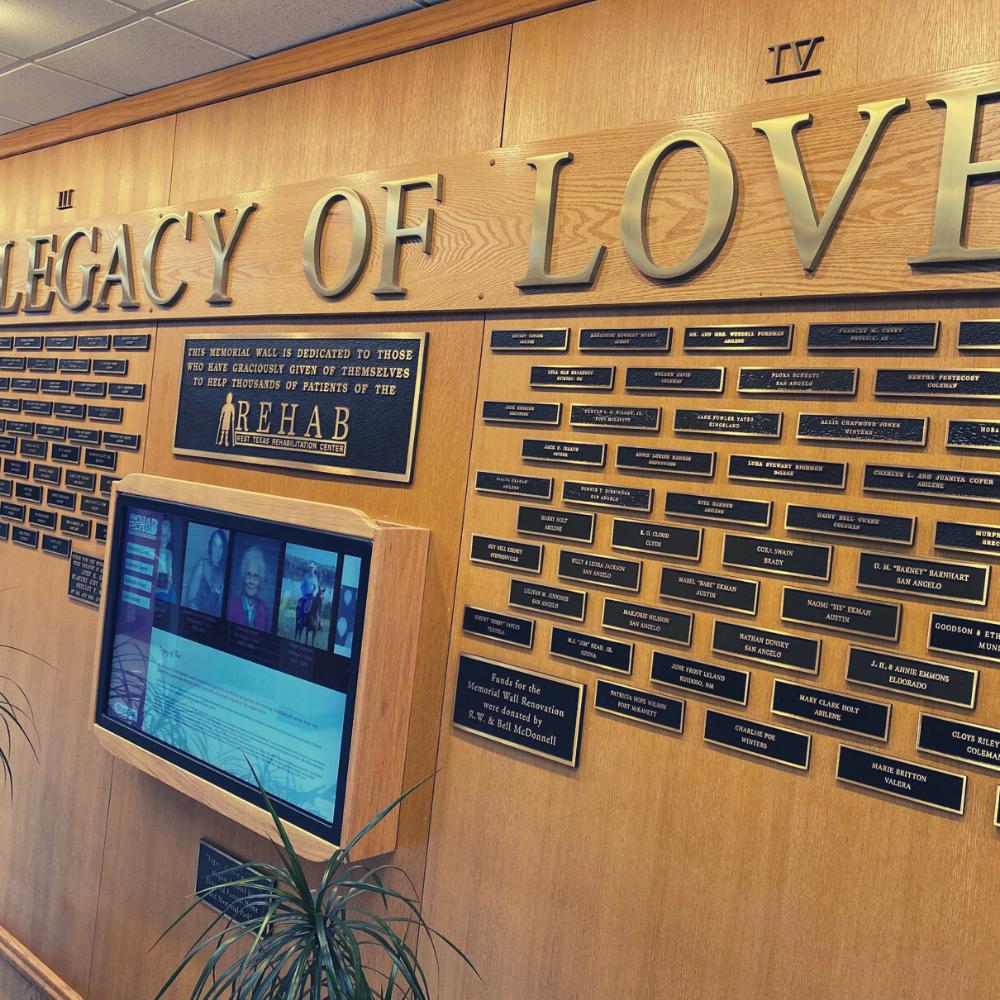 Legacy of Love Memorial Wall