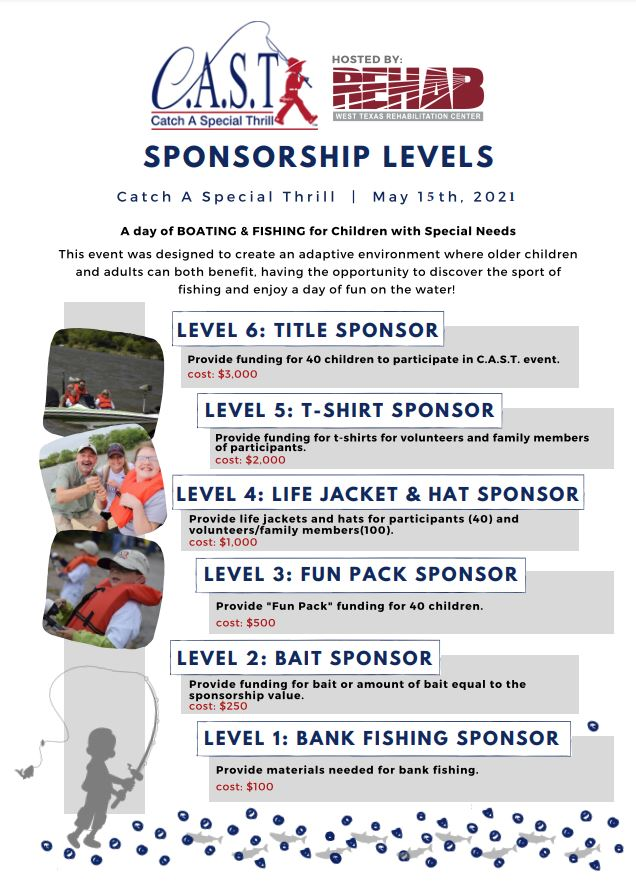 2021 C.A.S.T. Sponsorship Needed!