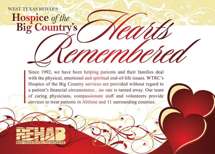 Hearts Remembered Invitation 2019 front