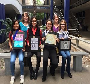 Los artistas de BCJH ganan calificaciones más altas en el concurso Regional