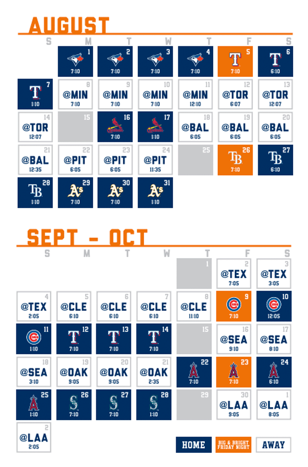 Houston Astros - Schedule 2016